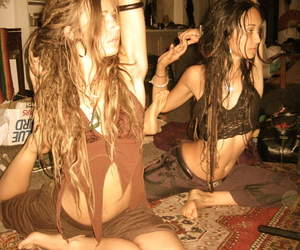dreads, hippies, and yoga image