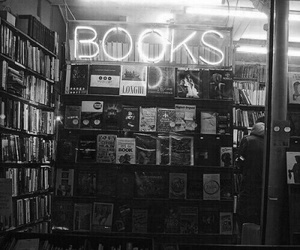 book, black and white, and grunge image