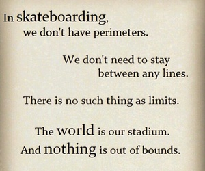 quote and skateboarding image