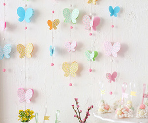 butterfly, diy, and pink image