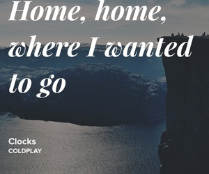 clocks, coldplay, and Lyrics image
