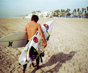 surf, beach, and boy image