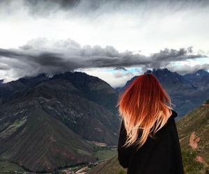 clouds, girls, and hair image