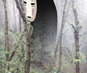 anime, spirited away, and no face image