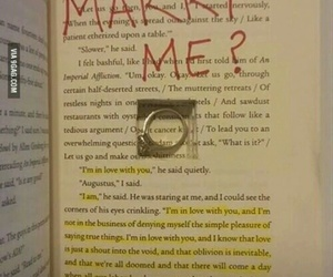 book, ring, and proposal image