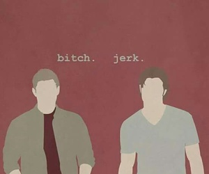 supernatural, dean, and bitch image
