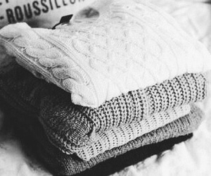 black and white, clothes, and knit image
