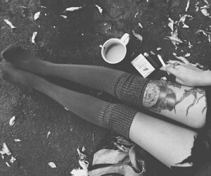 tattoo, coffee, and grunge image