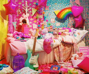 bedroom, colorful, and interior image