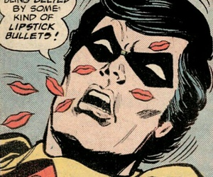 pop art, kisses, and robin image