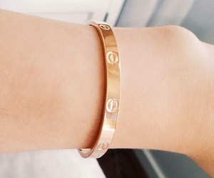 bangle, gold, and love image