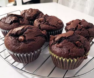 yummy, chocolate, and muffin image