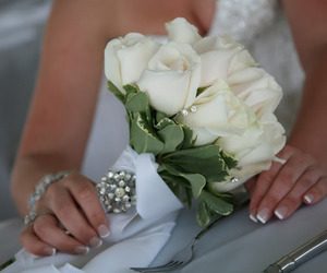 wedding, white, and rose image