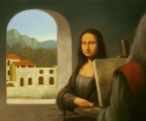 art, illustration, and Leonardo da Vinci image
