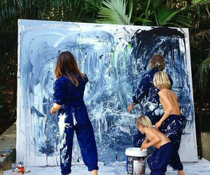art, family, and blue image