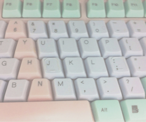 pastel, keyboard, and pale image