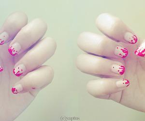 girl, pink, and nail art image