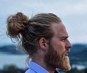 man, beard, and boy image