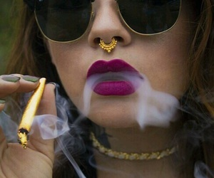 smoke, gold, and piercing image