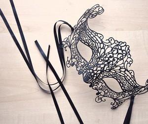mask, black, and masquerade image