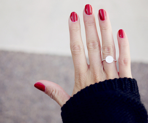 nails, red, and pretty image