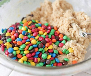 food, m&m's, and delicious image