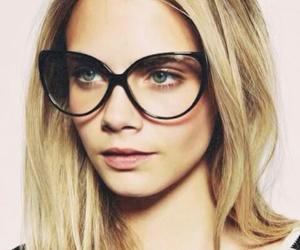 model, cara delevingne, and glasses image