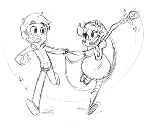 marco diaz, star butterfly, and starco image