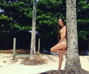 beautiful, beach girl, and beach image