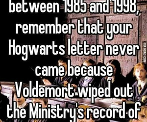 harry potter, hogwarts, and voldemort image