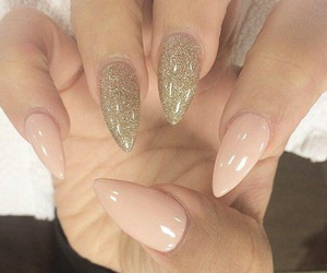 gel nails, gel, and gold image