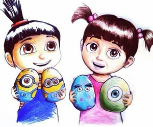 minions, boo, and disney image