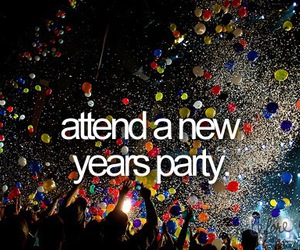 new year, before i die, and party image