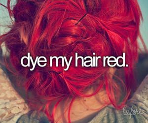 hair, red, and before i die image