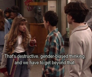 boy meets world, tumblr, and feminism image