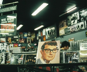 buddy holly, vintage, and record store image