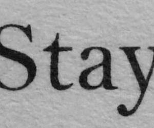 stay, quotes, and black and white image