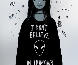 alien, humans, and black image