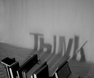 book, think, and black and white image
