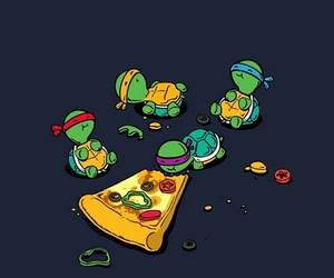 pizza, turtle, and wallpaper image