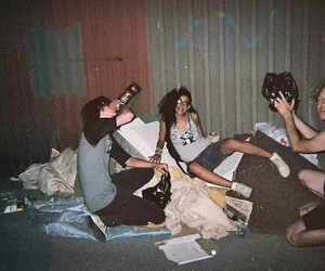 friends, drink, and grunge image