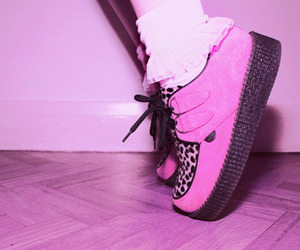 pink, creepers, and shoes image