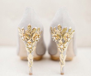 fashion, golden, and highheel image