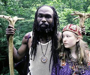rainbow gathering and skin color image