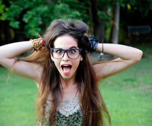 crazy, glasses, and hair image