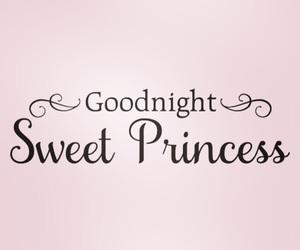 good night and princess image