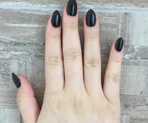 almond, black, and nails image