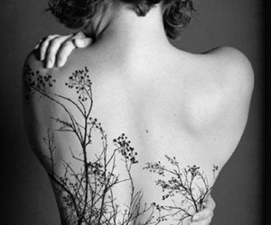 tattoo, tree, and back image