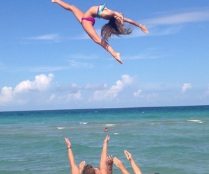beach, cheer, and boy image
