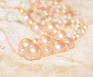 pearls, lace, and pink image